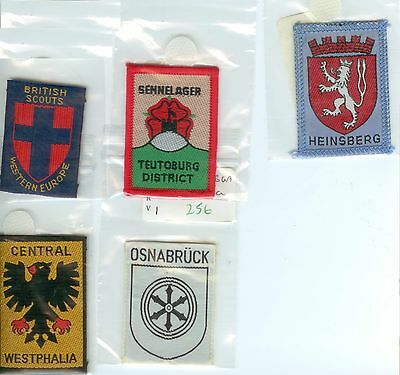 Scout Badges - British Scouts Western Europe    Lot2