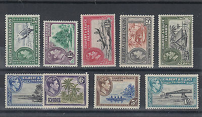 1939+ Gilbert and Ellice Islands M/M KGVI lot of stamps up to 1/-