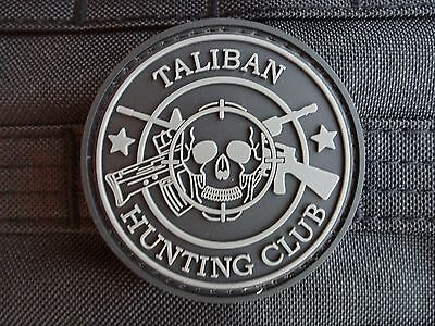 "Military Morale 3D Rubber Patch ""Taliban Hunting Club"" - BLACK - Velcro /Airsoft"