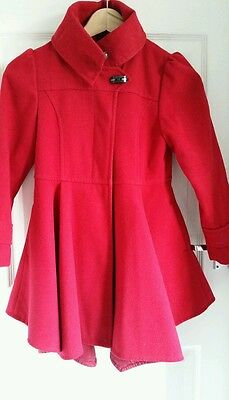 Next girls red coat age 7-8 years