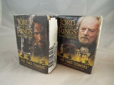 Lord Of The Rings Tcg Two Towers Pair Of Aragorn & Theoden Starter Decks