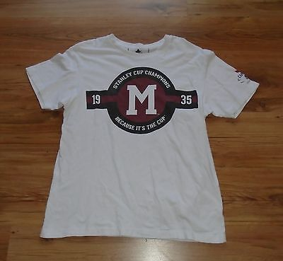 Rare Limited Montreal Maroons 1935 Stanley Cup Champs Molson Canadian T-Shirt