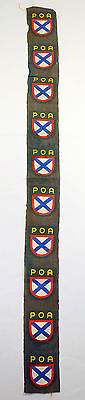 Wwii German Army Foreign Volunteer Poa Sleeve Shield Patch Cloth Strip Of 10