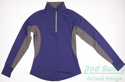 New Womens Footjoy Golf 1/2 Zip Pullover Large L Purple MSRP $80