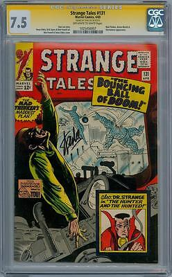 Strange Tales #131 Cgc Signature Series Signed Stan Lee Dr Doctor Movie Dormammu
