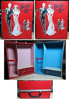 Barbie & Ken Red Vinyl Trunk Case Enchanted Evening