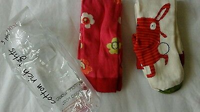 Gorgeous Bnwot set of two pairs of tights from Next age 5-6y