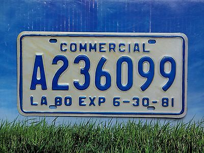 1980 / 1981 Louisiana Commercial License Plate A236099 New Mint Cond