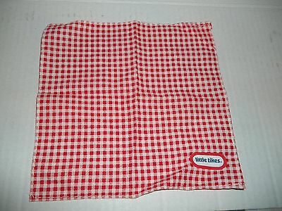 Little Tikes Dollhouse Picnic Table Blanket Tablecloth- Vintage Doll House Toy