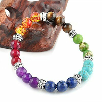 7 Chakra Bead Healing Reiki Beaded Stretch Bracelet Yoga Jewelry Hot Selling