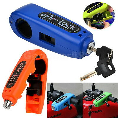 Motorcycle Bike Scooter Handlebar Grip Brake Lever Cars Lock Anit Theft Security