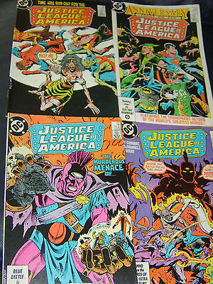 Justice League of America #249,250,251,252 Four Issue Lot 1986
