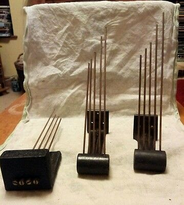 Three vintage clock chimes clock parts