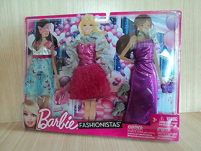 Barbie Fashionistas NIGHT Looks Glam Fashions, Dresses and Accessories NEW