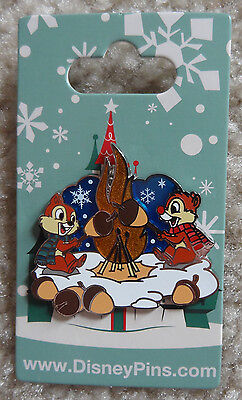 Chip & Dale Camp Fire Disney Pin