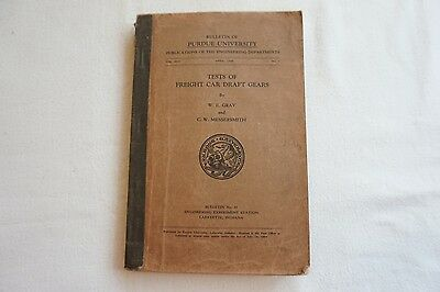 1929 Tests of Freight Car Draft Gears American Railroad Railways Book Gray