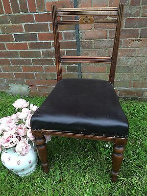 Single Antique Decorative Occasional Dining Chair -bed/bath/dressing Room ?