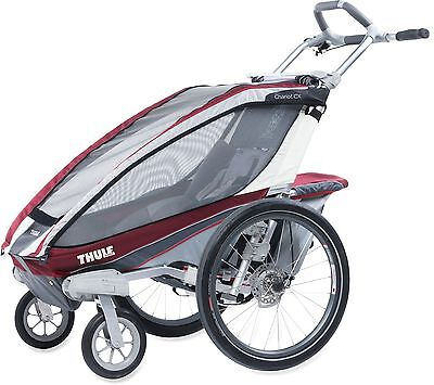 Thule Chariot CX-1 BURGUNDY with Strolling kit Brand New !