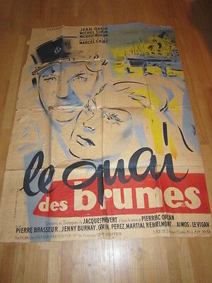 PORT OF SHADOWS Le Quai Des Brumes 1950s French poster Jean Gabin Marcel Carne