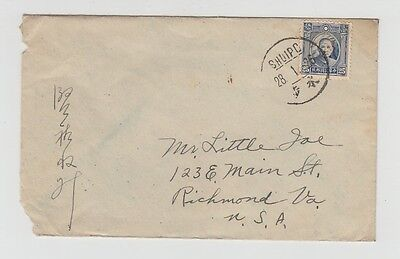 China Old Cover Shuipo Canton To Usa 1926 !!
