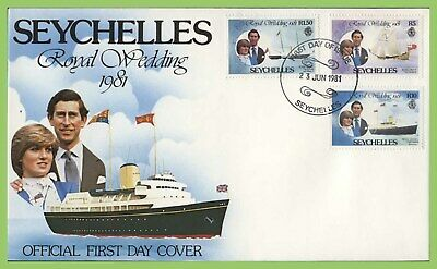Seychelles 1981 Royal Wedding set First Day Cover