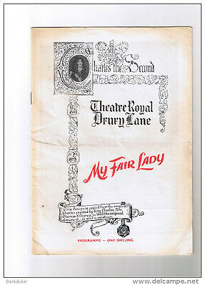 My Fair Lady rare Theatre show programme from 1960´s