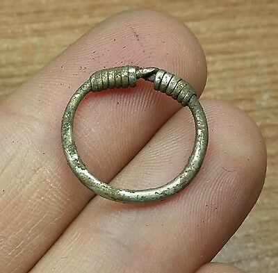 ANCIENT CELTIC SILVER COILED  RING - 1pc.  #2363