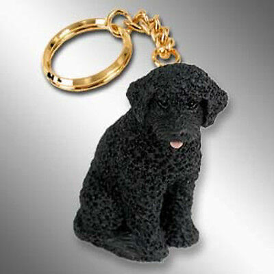 Potuguese Water Dog Tiny One Resin Keychain Key Chain Ring