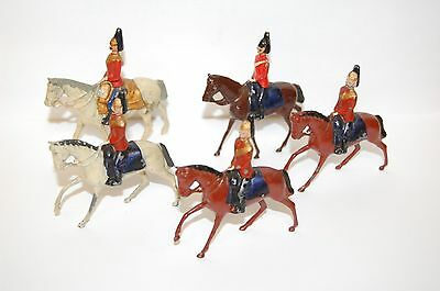 Job Lot Of 8 Pre War Britains Lead Mounted Dragoons