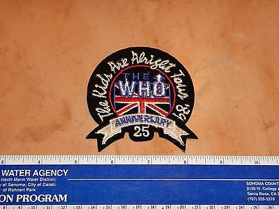 "Vintage Original The Who 1989 The Kids Are Alright Tour Patch 3"" X 3.5""   Nos"