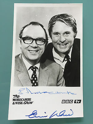 Eric Morecambe Ernie Wise MORECOMBE AND WISE autographed signed BBC photo - RARE