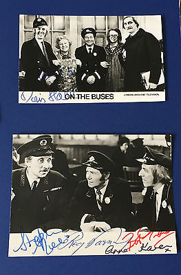 On The Buses cast signed photos REG VARNEY BOB GRANT Anna Karen BBC UACC RD