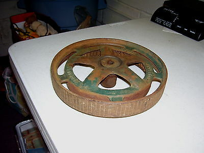 Antique Vtg Eureka Reel Mower Wheel Steampunk Woodstock Canada Speedy