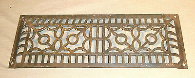 "Ornate Antique Cast Iron Heating Grate 5 1/2"" x 15"""