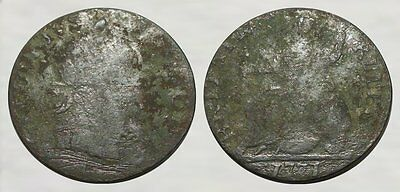 AWESOME DETECTING FIND!!* American Revolutionary War Coin - 1771 George III 1/2d