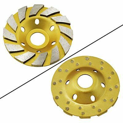 """Ocr TM 4"""" Concrete Turbo Diamond Grinding Cup Wheel for Angle Grinder 12 Segs"""
