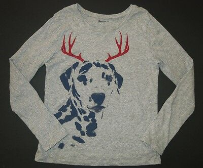 Gap kids Christmas dalmatian dog reindeer antlers festive holiday party 12 14