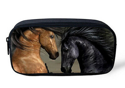 HORSE & WESTERN GIFTS OFFICE SCHOOL ART HOME EQUESTRIAN HORSES PENCIL CASE b