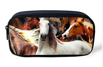 HORSE & WESTERN GIFTS OFFICE SCHOOL ART HOME EQUESTRIAN HORSES PENCIL CASE c