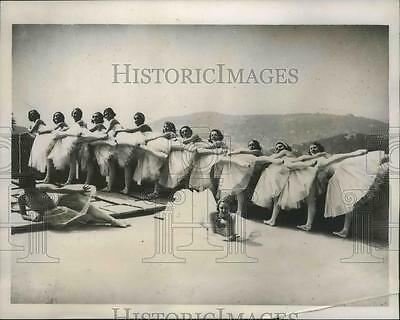 1934 Press Photo Ballet from the Opera At Nice on the French Riviera