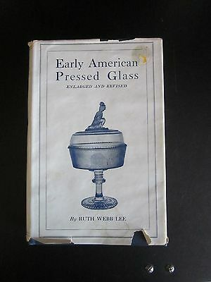 1960 Early American Pressed Glass Reference Book Hard Cover + Jacket