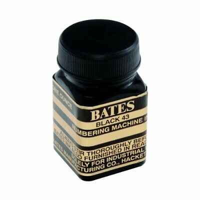 Bates Numbering Machine Refill Ink, 1 Ounce Bottle with Cap Brush, Black New
