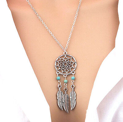 Horse & Western Jewellert Jewelry Native Usa Dreamcatcher Necklace Silver