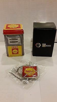 Shell Tin Storage Petrol Pump Station Heritage Canister Malaysia Exclusive 1960