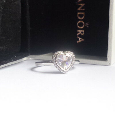 Pandora Sparkling Heart  Ring - sizes - genuine sterling silver ex condition!