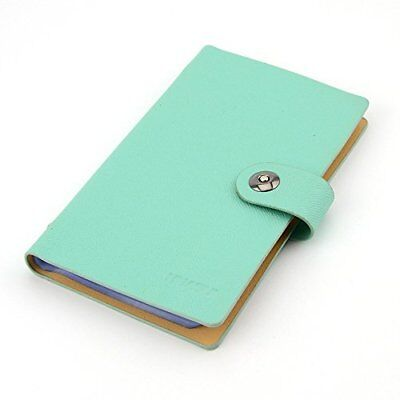 Business PU Leather Cards Organizer Book, 240 Cell-Blue New