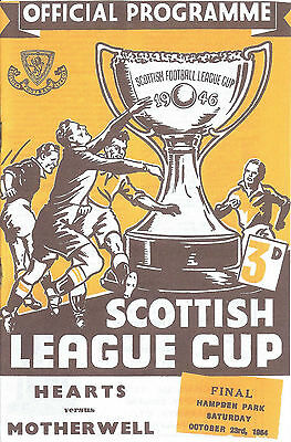Heart Of Midlothian V Motherwell - Scottish League Cup Final Fixture 1954