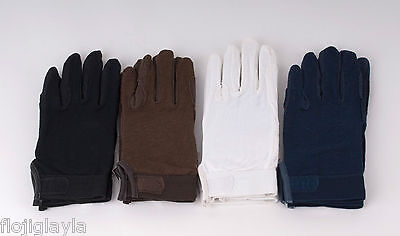 COTTON PIMPLE PALM adult / adults HORSE RIDING GLOVES various colours & sizes