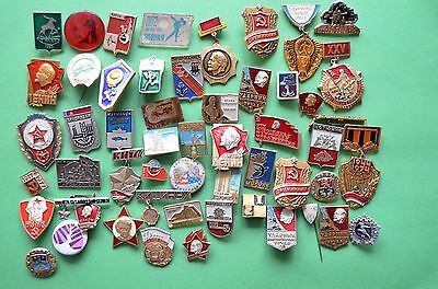 Lot of Different Badges of the USSR