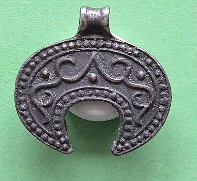 Medieval Viking period Silver Moon Shaped pendant
